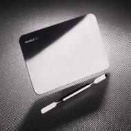 Стальная палитра для смешивания косметики в комплекте со шпателем Manly Pro (малая) ПСШ: фото