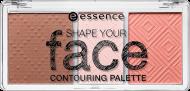 Бронзер, румяна, хайлайтер Shape your face contouring palette Essence 10 ready, set, peach!: фото
