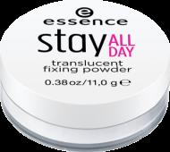 Пудра рассыпчатая Stay all day translucent fixing powder Essence 10 translucent: фото