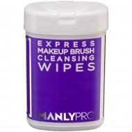 Экспресс-очищающие салфетки для макияжных кистей с антибактериальным эффектом 50 шт Manly Pro КО09: фото