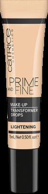 Корректор цвета тональной основы Prime And Fine Make Up Transformer Drops Сatrice Lightening: фото