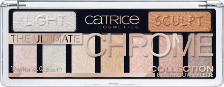 Тени для век The Ultimate Chrome Collection Eyeshadow Palette Сatrice 010 хром: фото