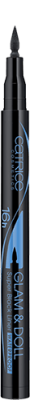 Подводка для глаз Glam & Doll Super Black Liner WaterproofСatrice 010 черная: фото