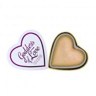 Хайлайтер I Heart Makeup Blushing Hearts MakeUp Revolution Golden Goddess: фото