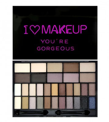 Палетка теней I Heart Makeup Theme Palette Makeup Revolution You are Gorgeous: фото