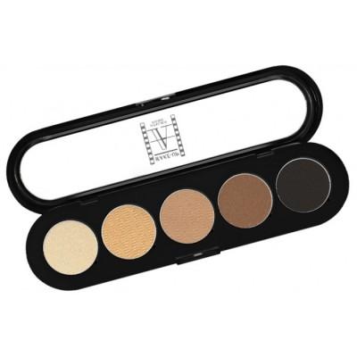Палитра теней Make-up Atelier Paris, T03s 5 цветов, натуральные коричневые тона: фото