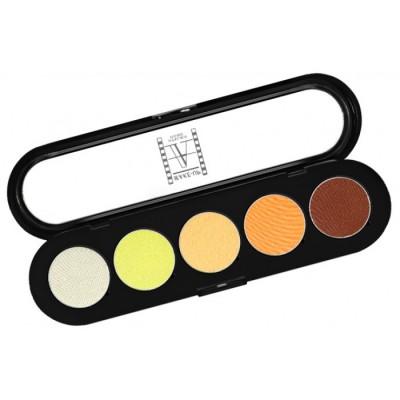 Палитра теней Make-up Atelier Paris T06 5 цветов, желто-оранжевые тона: фото