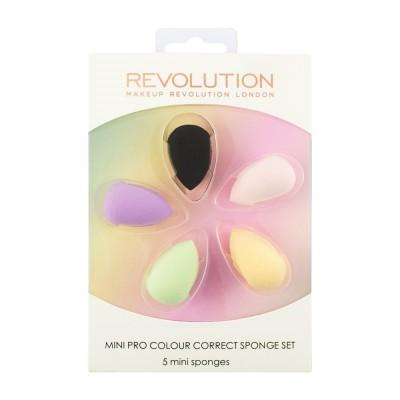 Набор цветных корректириующих спонжей Mini Pro Colour Correct Sponge Set Makeup Revolution: фото