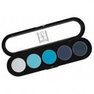 Палитра теней Make-up Atelier Paris T07 5 цветов, синие-голубые тона: фото