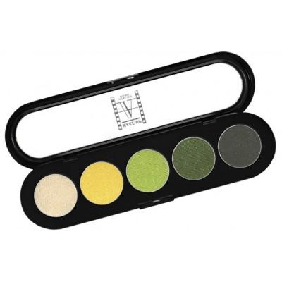 Палитра теней Make-Up Atelier Paris T08 5 цветов золотисто-зеленые тона: фото