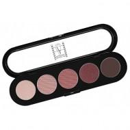 Палитра теней Make-Up Atelier Paris T10 5 цветов, коричнево-сиреневые тона: фото