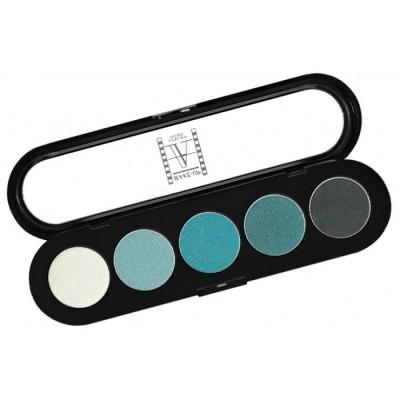 Палитра теней, 5 цветов Make-Up Atelier Paris T11 сине-зеленые тона: фото