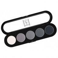 Палитра теней Make-Up Atelier Paris T12 5 цветов черно-белые тона: фото
