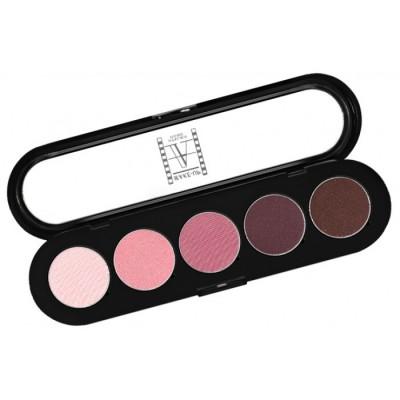 Палитра теней Make-Up Atelier Paris T13 5 цветов розово-вишневые тона: фото
