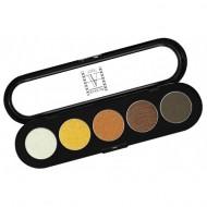 Палитра теней Make-Up Atelier Paris T14 5 цветов, золотисто- оранжевые тона: фото