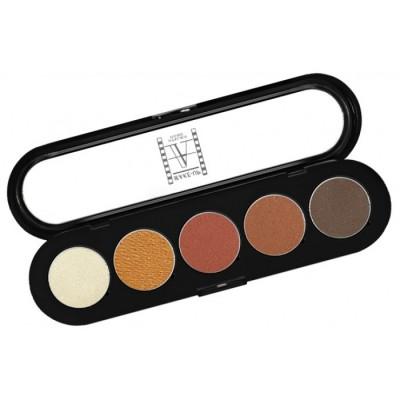 Палитра теней Make-Up Atelier Paris T15 5 цветов золотисто-коричневые тона: фото