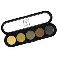 Палитра теней Make-Up Atelier Paris T18 5 цветов амазонка атласные тона: фото