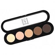 Палитра теней Make-Up Atelier Paris T22 5 цветов натуральные коричневые тона: фото