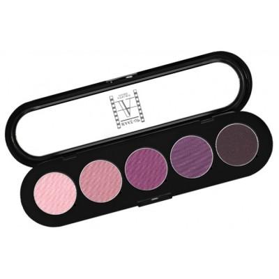 Палитра теней Make-Up Atelier Paris T28 5 цветов винно-фиолетовые тона: фото