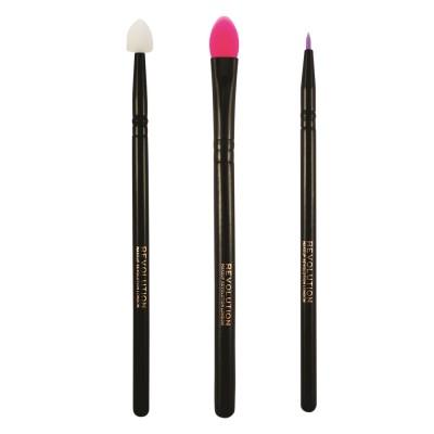 Набор силиконовых кистей для макияжа глаз Silicone Eye Set Makeup Revolution: фото