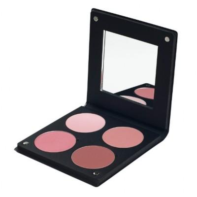 Палитра румян с зеркалом Make-Up Atelier Paris BL3DR 4 оттенка роза 96 гр
