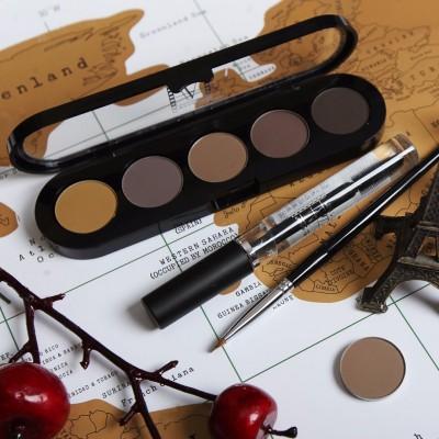 Подводка компактная (сухая), палитра для бровей Make-Up Atelier Paris TE30 10 г: фото