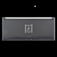 Палитра-кейс магнитный для пудр/теней/румян Make-Up Atelier Paris PRM10, 23х10 см ? черная с прозрачной крышкой: фото