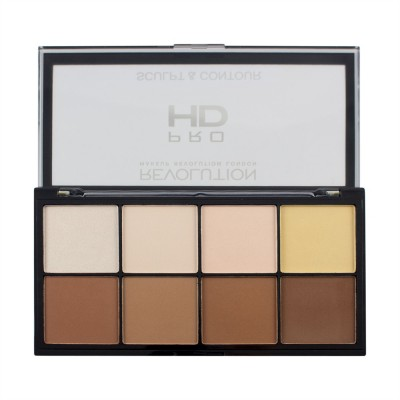 Палетка для контурирования Makeup Revolution HD Pro Sculpt and Contour: фото