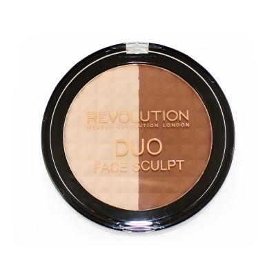 Палетка для скульптурирования Makeup Revolution Duo Face Sculpt: фото