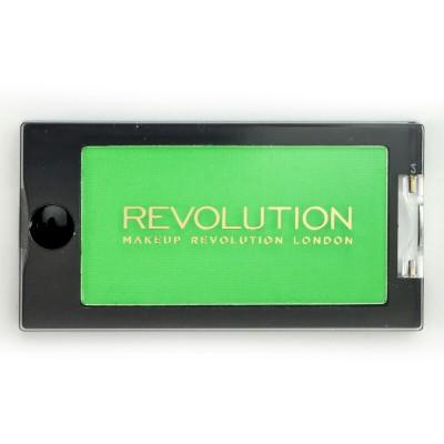 Тени для глаз Makeup Revolution Mono Eyeshadow Scanadalous Go, зеленый: фото