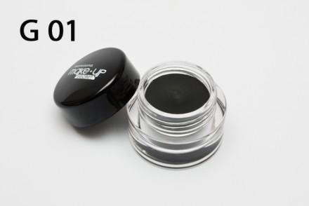 Подводка гелевая (Long-wear Cream Eyeliner) MAKE-UP-SECRET G01: фото