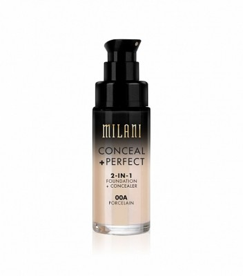 ТОНАЛЬНАЯ ОСНОВА + КОНСИЛЕР Milani Cosmetics (CONCEAL + PERFECT 2-IN-1 FOUNDATION + CONCEALER) 00A PORCELAIN: фото