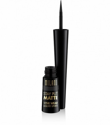ВОДОСТОЙКАЯ ЖИДКАЯ ПОДВОДКА Milani Cosmetics (STAY PUT MATTE 17HR WEAR LIQUID EYELINER) 01 BLACK MATTE: фото