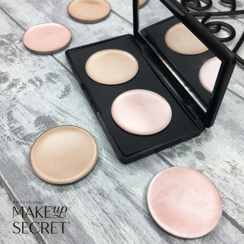 Кремовые румяна в рефилах Make up Secret (Cream Highlighter) CH03 Теплый золотисто-бежевый: фото