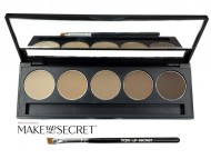 Палитра теней для бровей Make up Secret 5 оттенков (5 Brow Palette) BP-02