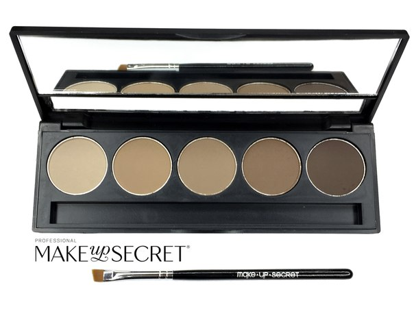 Палитра теней для бровей Make up Secret 5 оттенков (5 Brow Palette) BP-02: фото