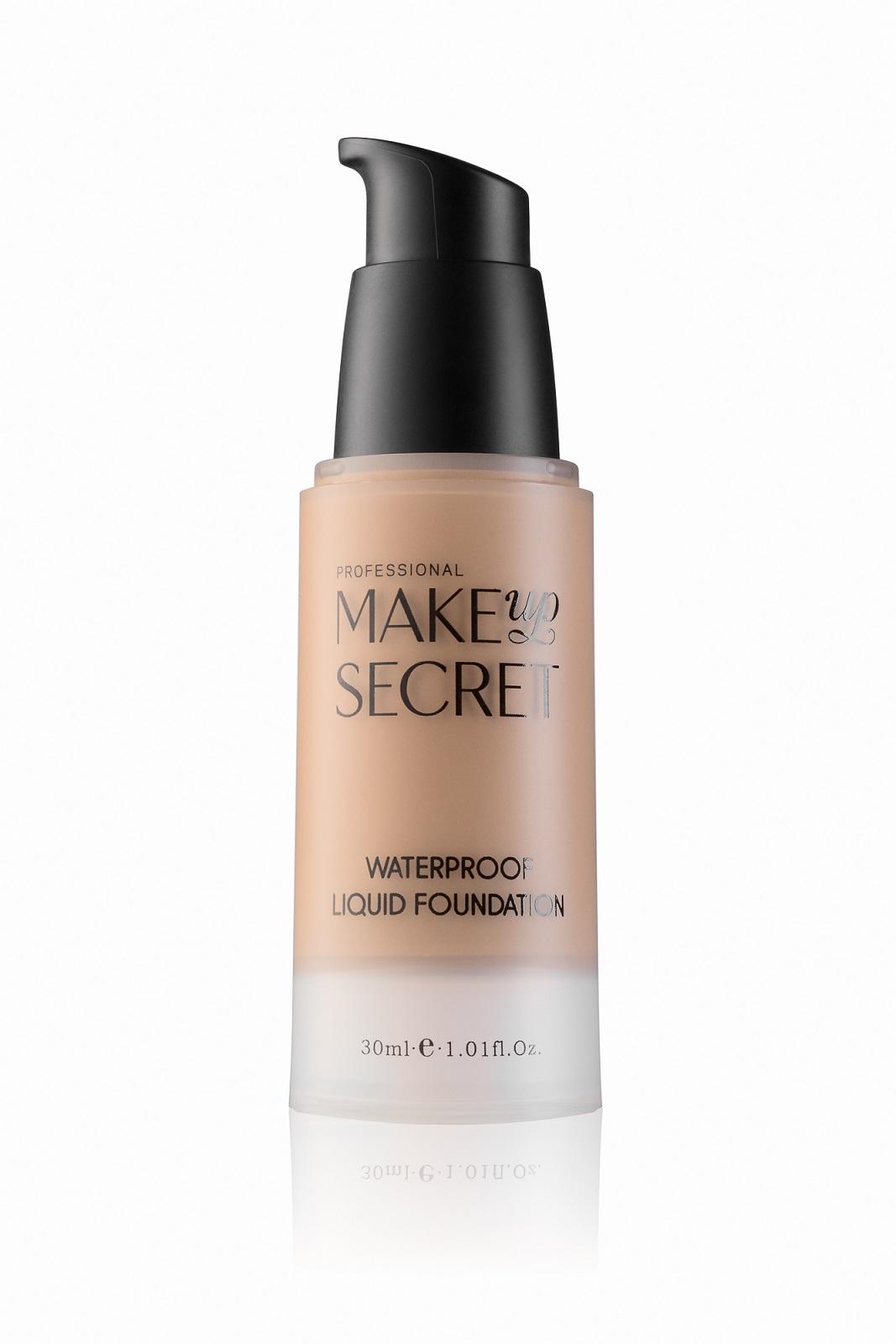 Крем тональный стойкий Make up Secret (Waterproof Liquid Foundation) LFW15 Тёмный натуральный бежевый: фото