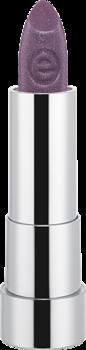 Губная помада Essence Sheer & shine prisma glow lipstick 17 красно-фиолетовый с блеском: фото