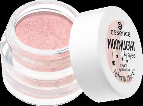 Тени для век Essence Moonlight eyes cream eyeshadow 02 нежно-розовый с блеском: фото