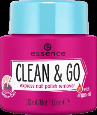 Жидкость для снятия лака с губкой Сlean & go express nail polish remover Essence: фото