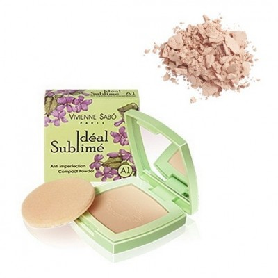 Пудра компактная против изъянов кожи Vivienne Sabo /Anti imperfection Compact Powder/Poudre compacte anti-imperfections тон/shade A1: фото