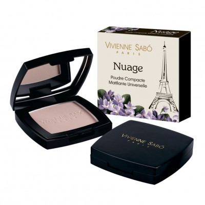 Пудра компактная матирующая универсальная Vivienne Sabo / Universal Compact Matt Powder /Poudre Compacte Matifiante Universelle Nuage: фото