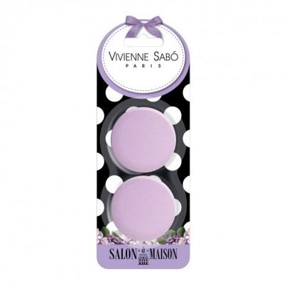 Набор круглых латексных спонжей для макияжа Vivienne Sabo 2 шт/Round latex makeup sponges set/ Kit des latex rond sponges de maquillage: фото