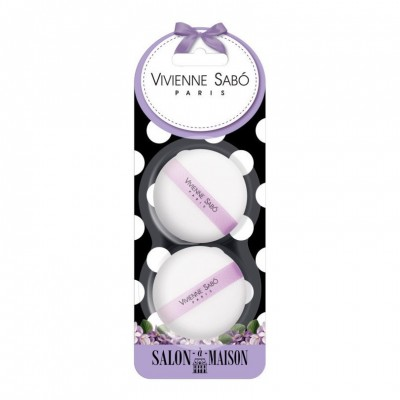 Набор велюровых спонжей для макияжа Vivienne Sabo 2 шт/Velour makeup sponges set/ Kit des velour sponges de maquillage: фото