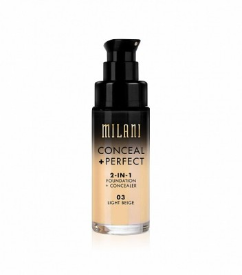 ТОНАЛЬНАЯ ОСНОВА + КОНСИЛЕР Milani Cosmetics CONCEAL + PERFECT 2-IN-1 FOUNDATION + CONCEALER 03 Light Beige: фото