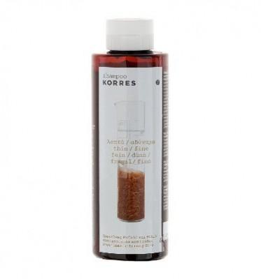 Шампунь для тонких ломких волос протеины риса и липа Korres 250 мл: фото