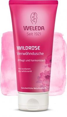 Розовый нежный гель для душа 200 мл WELEDA: фото