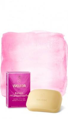 Розовое растительное мыло 100 г WELEDA: фото