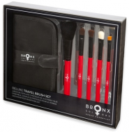 Дорожный набор кистей Bronx Colors Brush Set DELUXE TRAVEL BRUSH SET red/black: фото