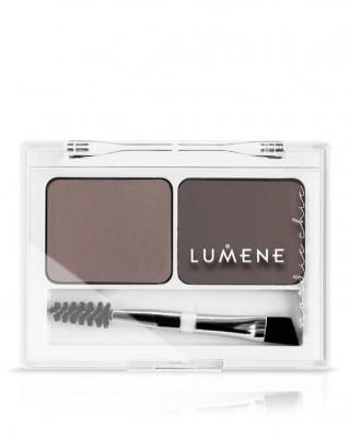 Палетка теней для бровей Lumene Nordic Chic / Средний коричневый, 3,6 г: фото